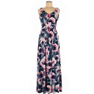 Women's Floral Floor Length Maxi Dress